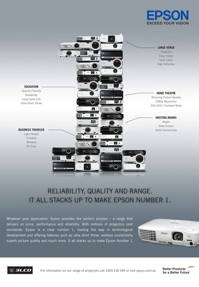 Epson No1 In Projectors Press Ad